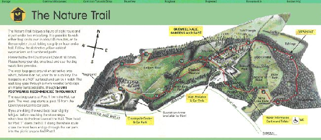 the nature trail in the country park